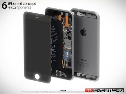 Дизайнер показал концепт iPhone 6 и его компонентов