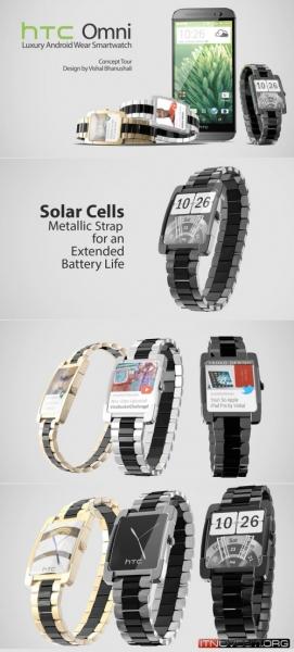 Дизайнер показал концепт умных часов HTC Omni